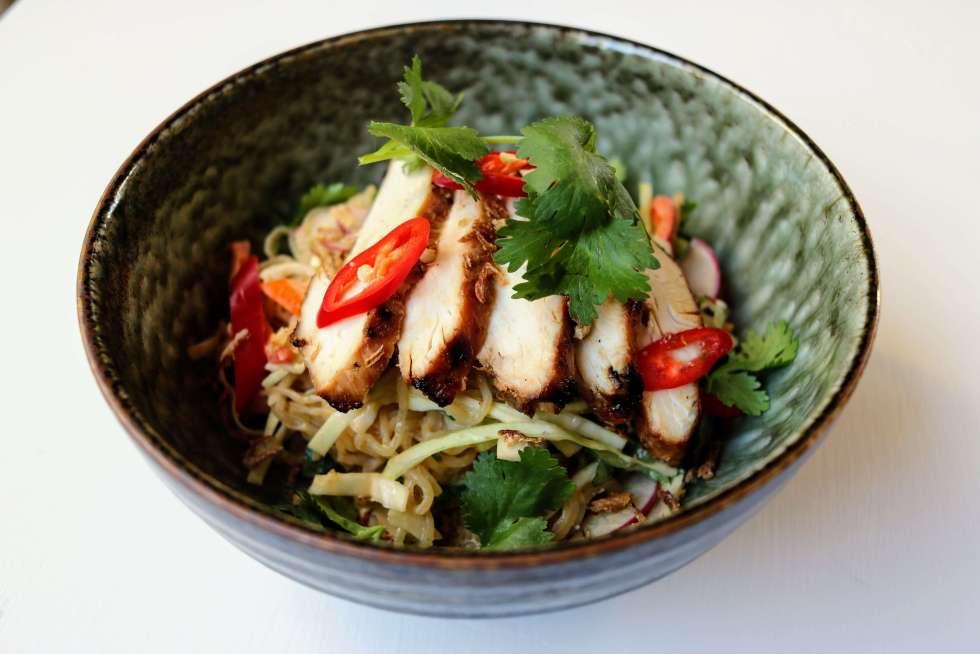 Keto Asian Chicken Noodle Salad