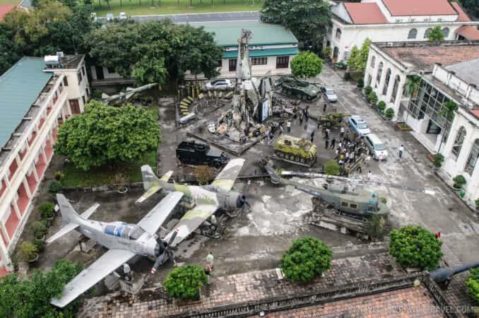Vietnam Military History Museum  Hanoi Vietnam