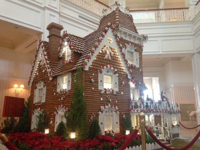 Christmas at Walt Disney World Gingerbread House