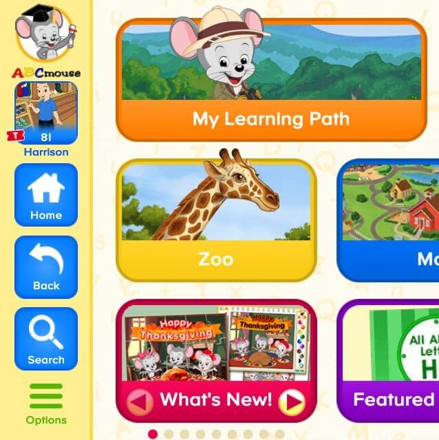 Apps for traveling with kids ABC Mouse