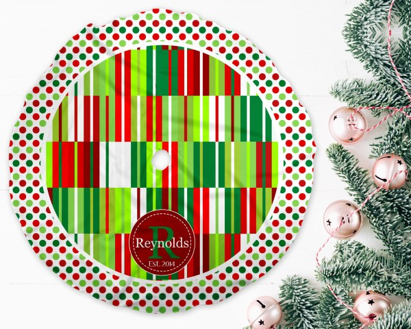 Abstract 2 Christmas Tree Skirt