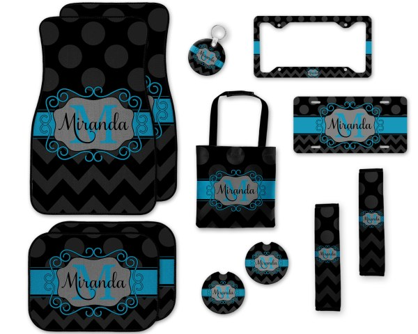 Polka Dots & Chevron Car Accessories