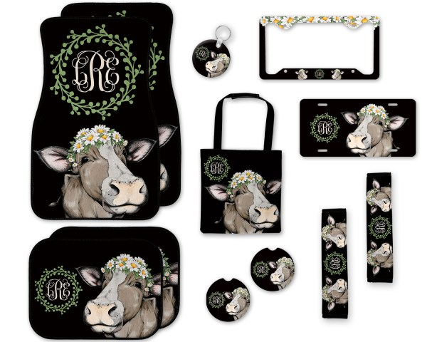 Cow with Daisies Car Accessories