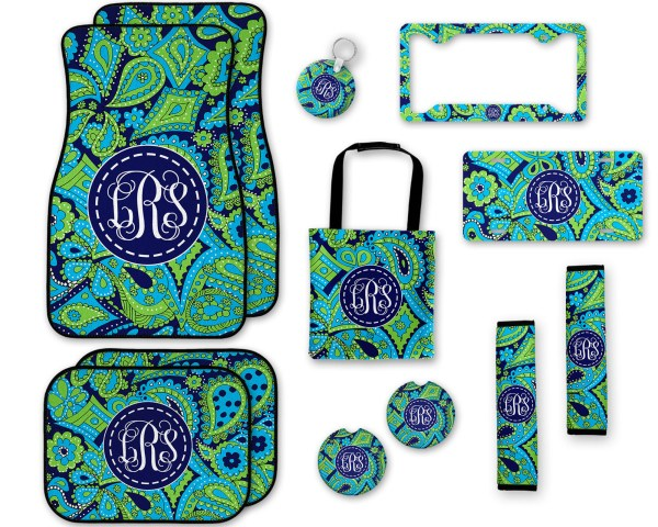 Lilly Pulitzer Inspired Paisley Car Accessories