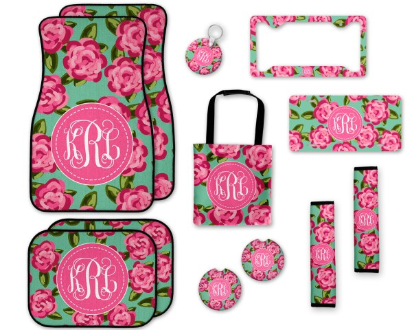 Lilly Pulitzer Inspired Floral Car Accessories