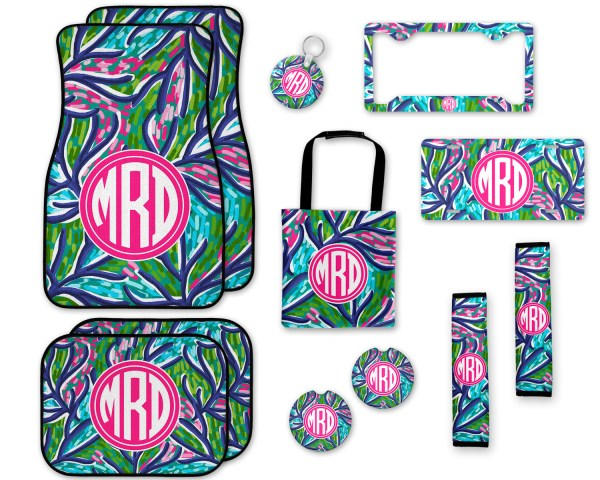 Lilly Pulitzer Inspired Abstract Car Accessories