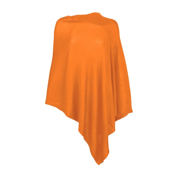 Chelsea Poncho - Orange