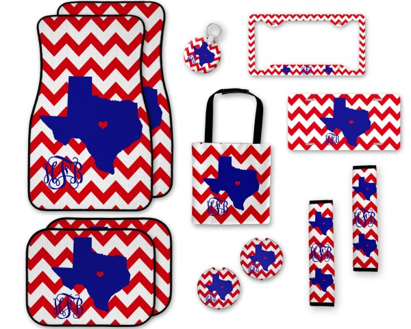 Chevron & (ANY) State Car Accessories