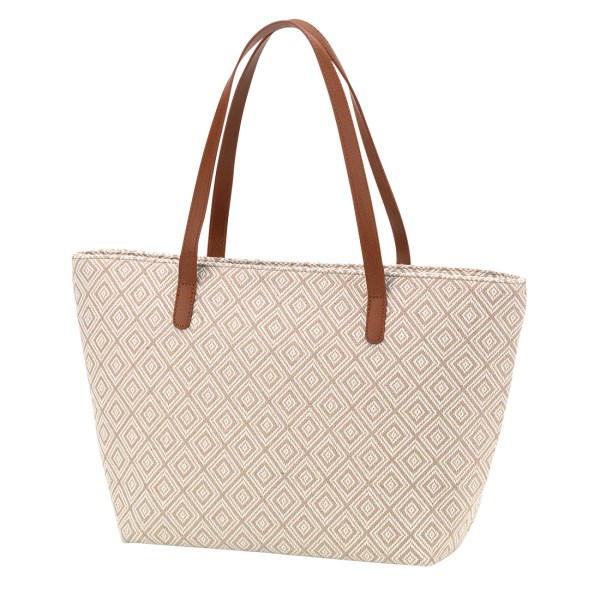 Tan Diamond Charlotte Purse
