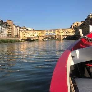 Gondola cruise down the River Arno