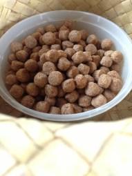 Spherical dog feeds. Plenty of them.