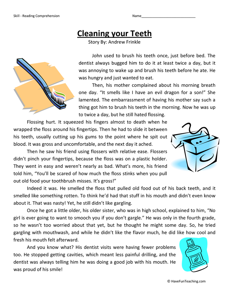 Fourth Grade Reading Comprehension Worksheets  Have Fun Teaching