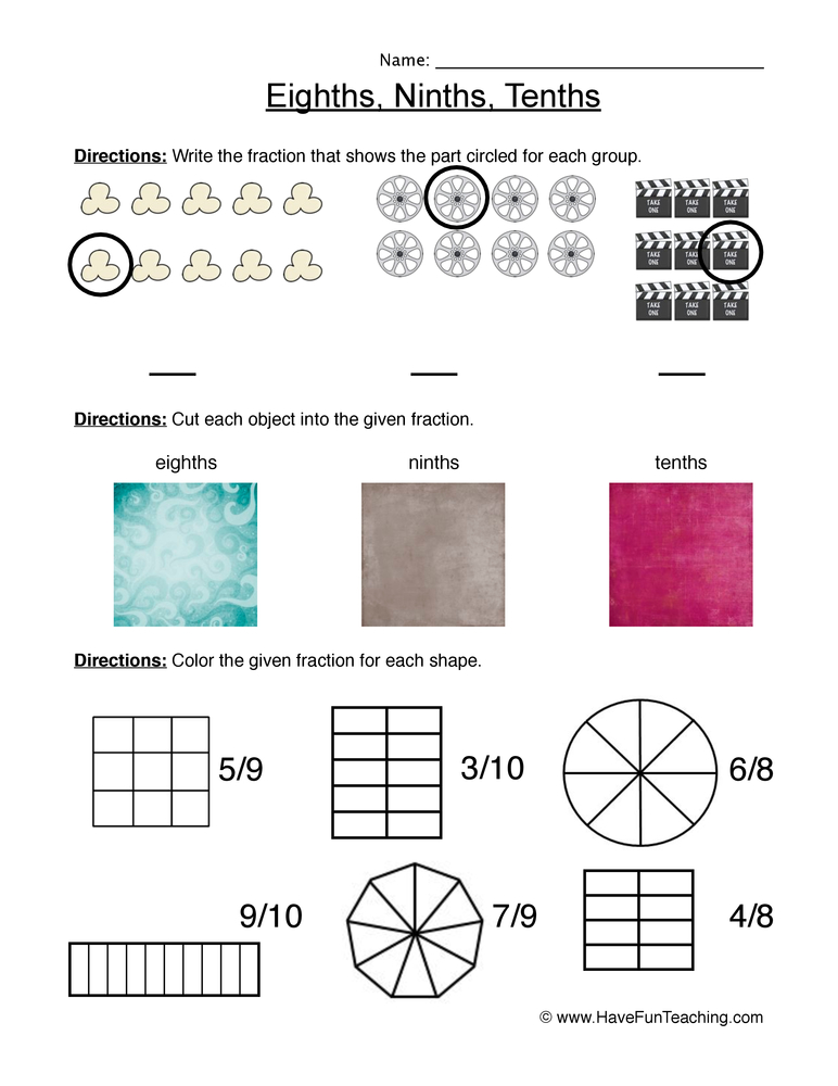 New 971 Fraction Worksheets Have Fun Teaching  Fraction Worksheet
