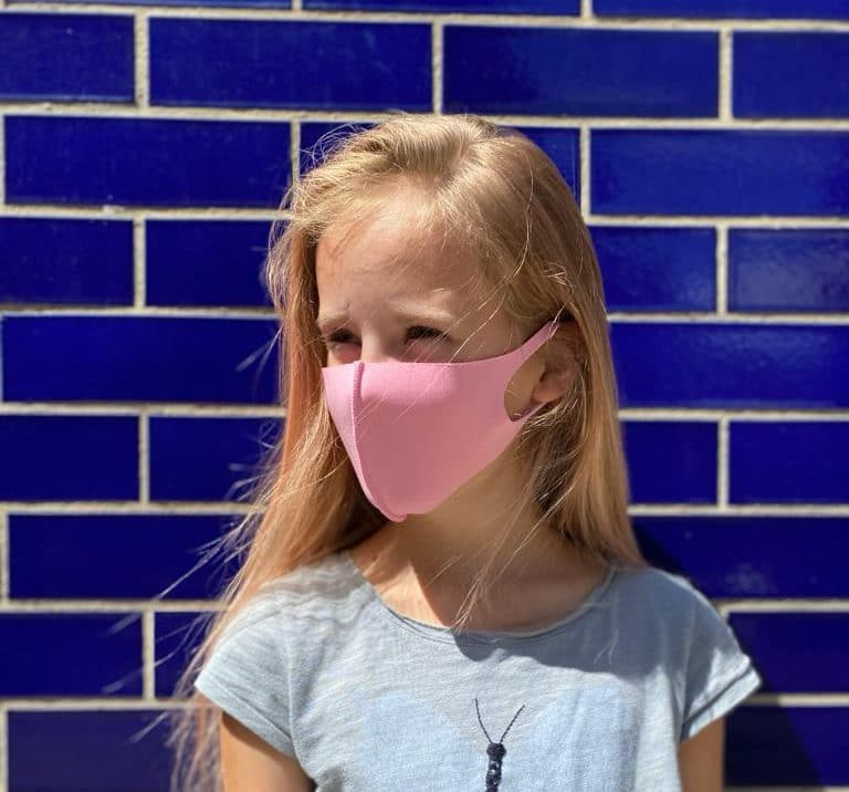 Pink kids mask