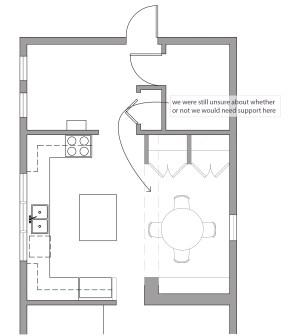 Kitchen layout option 4