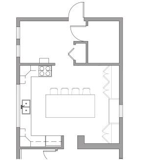 Kitchen layout option 3
