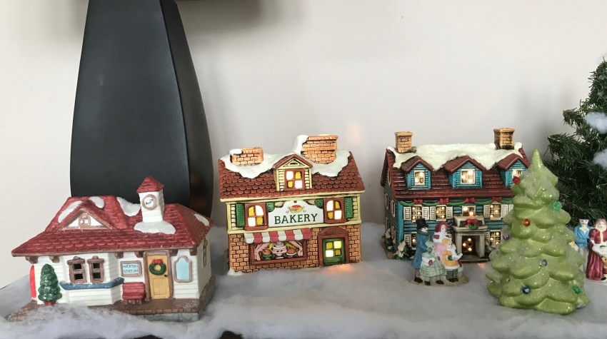 Christmas Vignette #3: Updated White Christmas Village