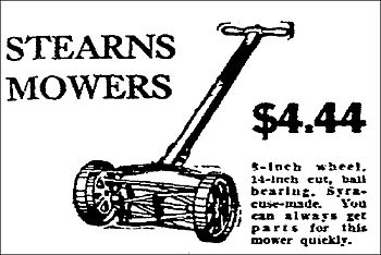 English: Stearns lawn mower - Made in Syracuse...
