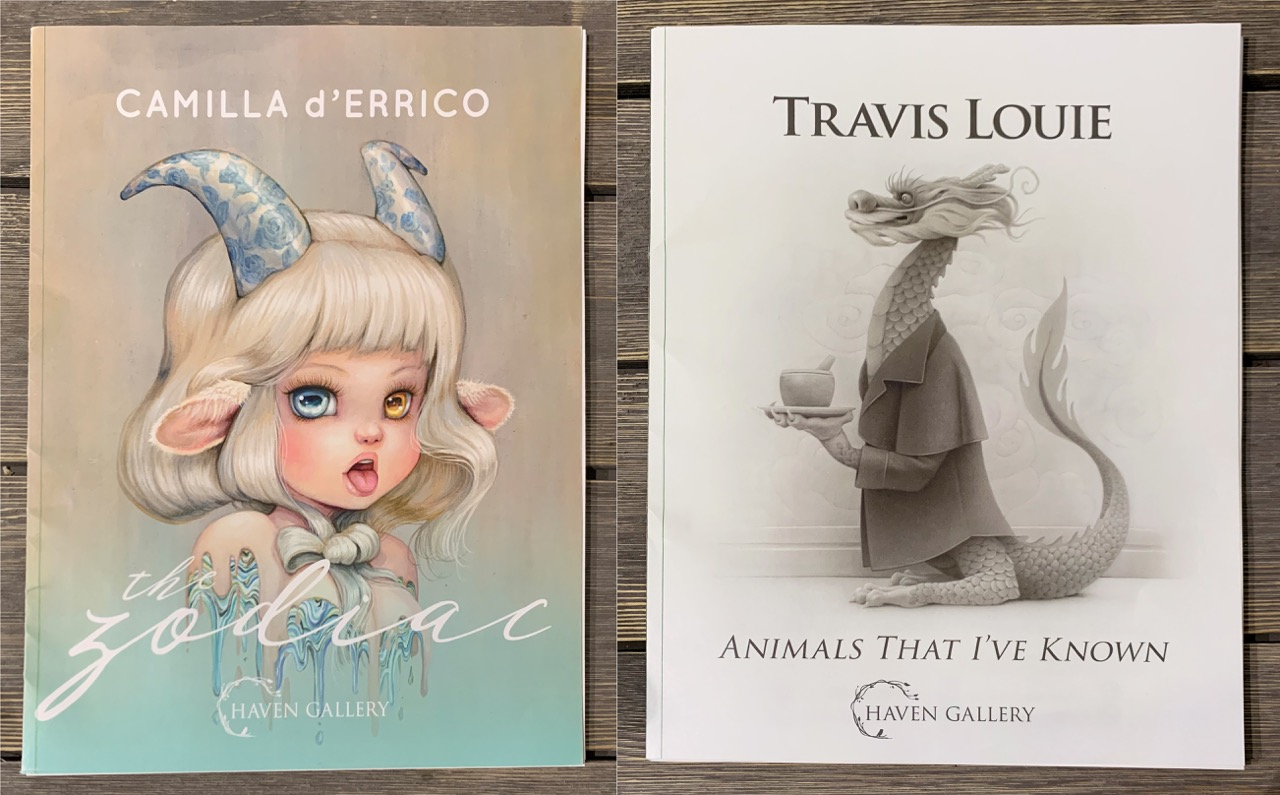 """Camilla D'Errico """"Zodiac"""" And Travis Louie """"Animals That I've Known"""" Limited Edition Dual Art Book"""