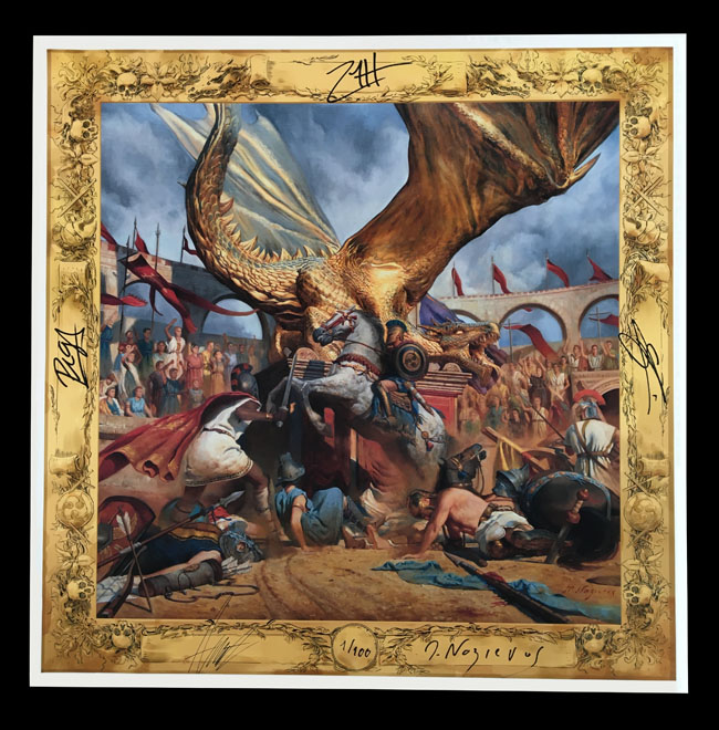 """Trivium X Mathieu Nozieres """"In The Court Of The Dragon"""" Print"""