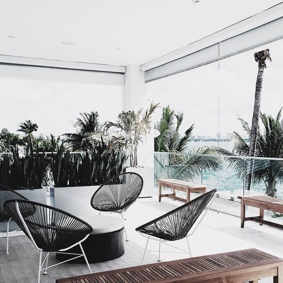 round wicker chair office mat 46 x 60 boho patio round-up | havenly hideaway