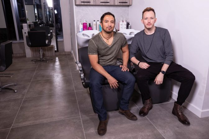 Hugo and Evan at Haven Salon