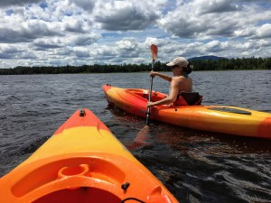 Kayaking on Flagstaff Lake