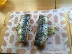 Sublime sardines on sesame toast, La Pepona, Sevilla