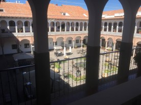 view of the courtyard at the JW