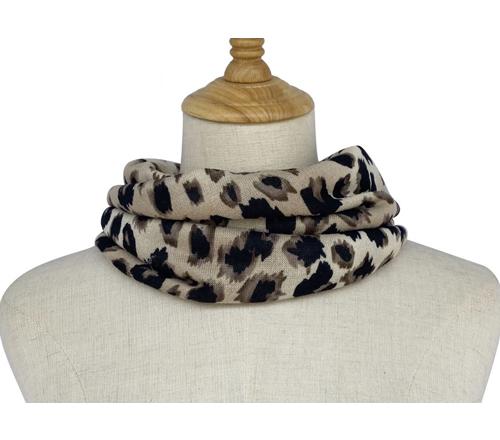 Animal leopard print snood