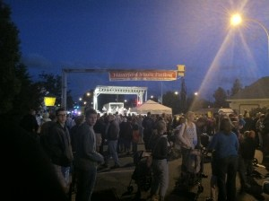 Nighttime at the Haverford Music Festival