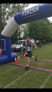 George at finish