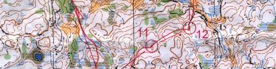 Kart med veivalg fra Liersprinten.