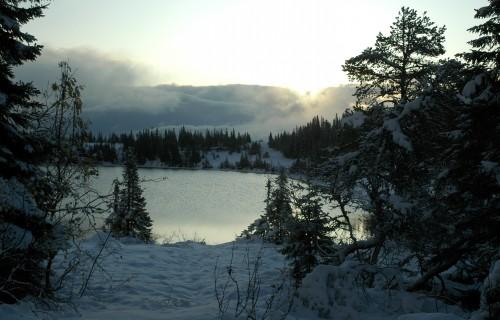 Snø rundt Vintervannet