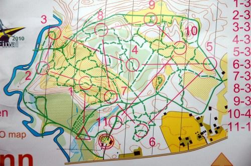 Kartet fra dagens sprint