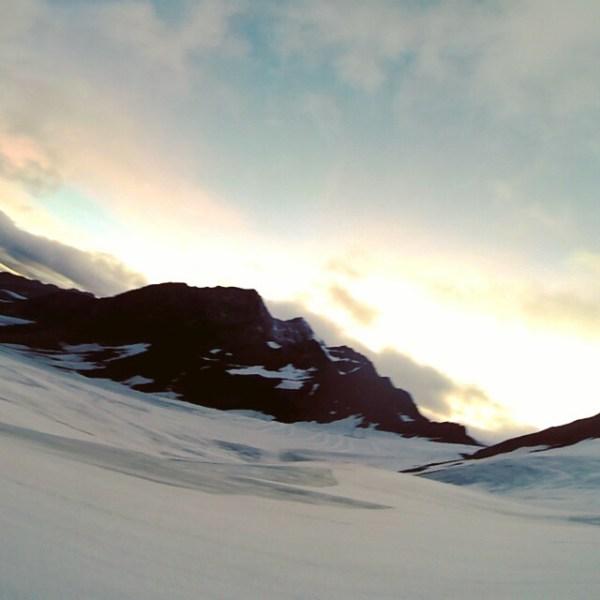 Nedkjøringa til skiløypa er dagens høydepunkt.