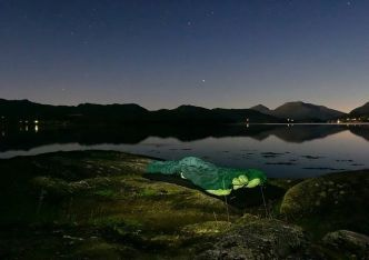Sovna her i natt, på vei til jobb i Molde. Takk for tipset @multiadventures.