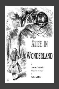 alice in wonderland play script cover