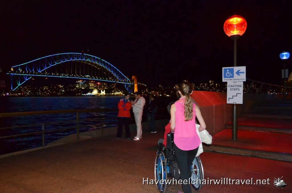 wheelchair accessible viewing areas at Vivid