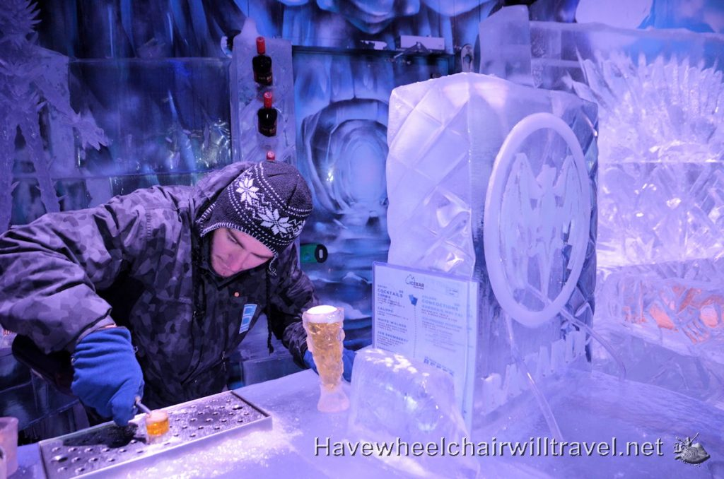 Ice Bar - cool wheelchair accessible fun
