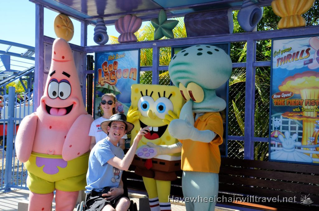 Meeting Sponge Bob Sea World