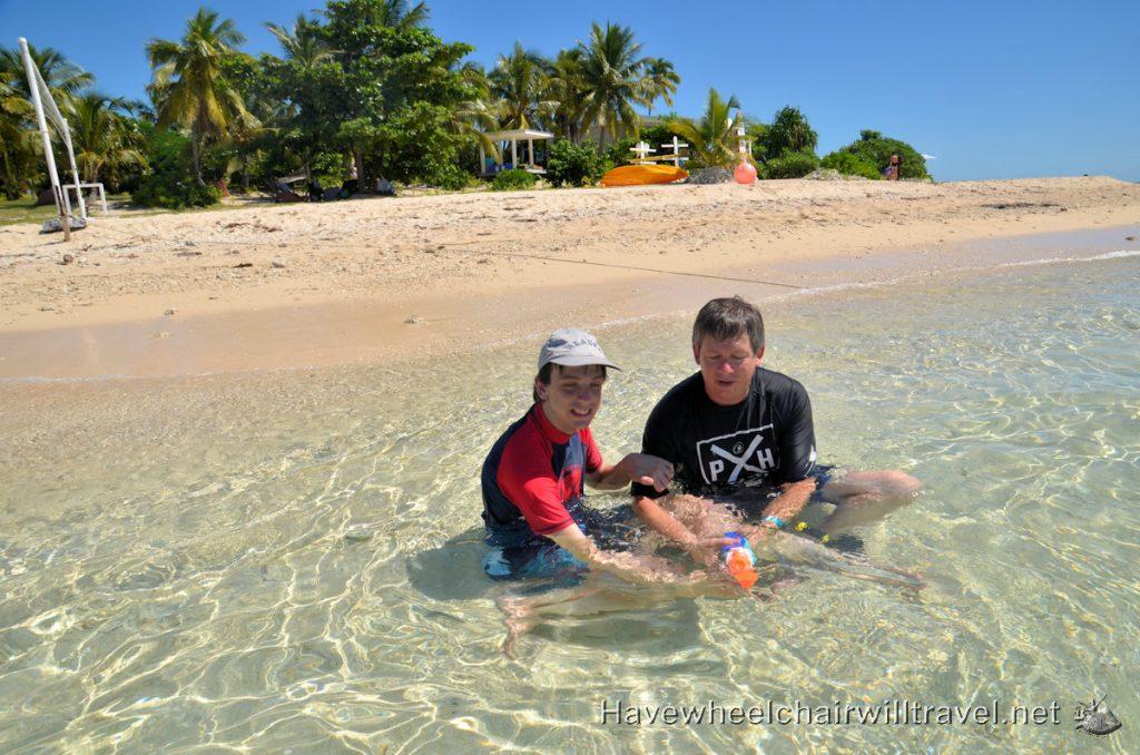 Malamala Beach Club Fiji - water fun - Have Wheelchair Will Travel