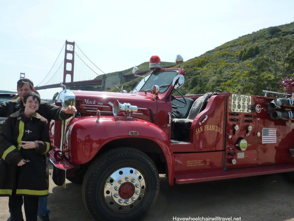 Argonaut Hotel - accessible San Francisco - Fire engine tour - Have Wheelchair Will Travel