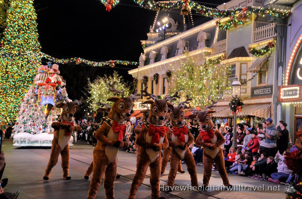 Disneyland at Christmas - Disneyland Christmas parade - Have Wheelchair Will Travel