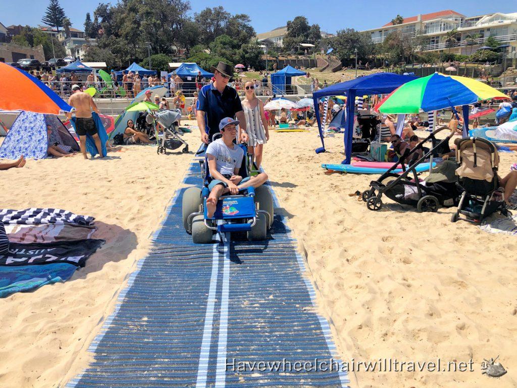 Beach matting Bondi Beach - Have Wheelchair Will Travel