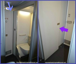 collage airline toilet