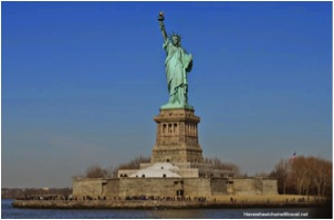 Statue of Liberty from Statue Cruises ferry