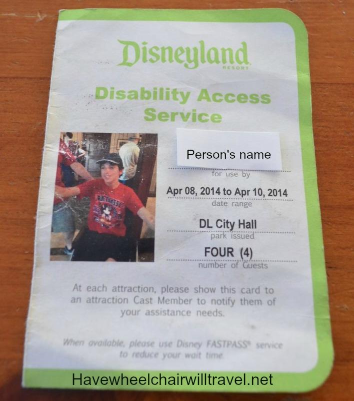 Disability Access Service pass2