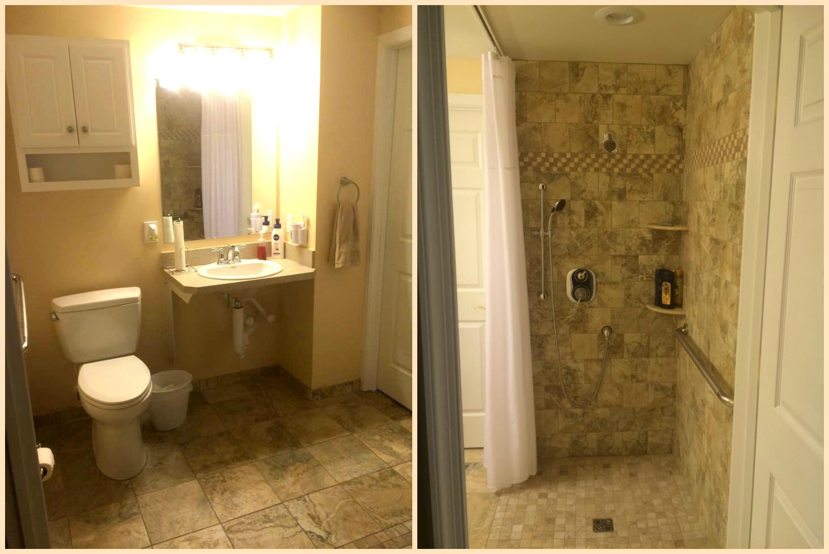 Amanda Shares Her Bathroom Solution For Her Son And Comments, U201cI Had Our  Main Floor Half Bathroom Converted Into A Full Handicap Accessible Bathroom  For My ...