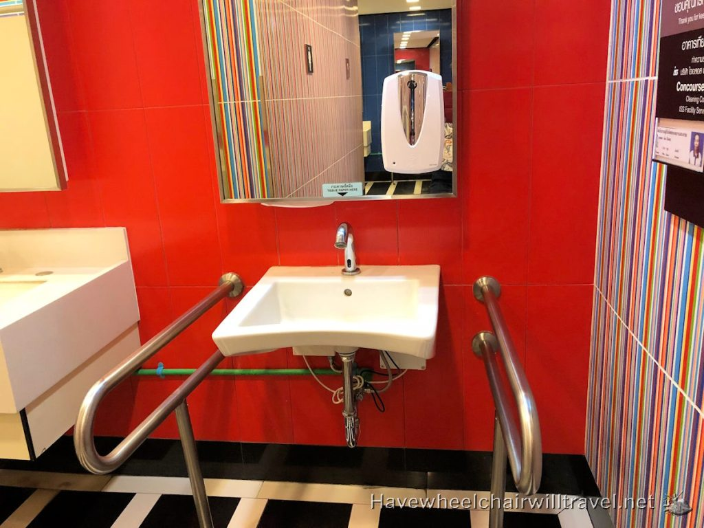 Accessible bathroom Bangkok Airport